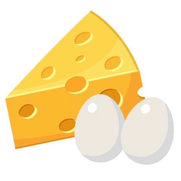 Сыр, масло и яйца