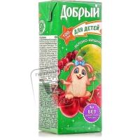 Сок для детей яблоко-вишня, Добрый, 200мл (тетра-пак)