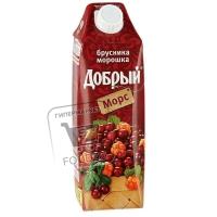 Морс брусника-морошка, Добрый, 1л (тетра-пак)