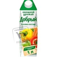 Нектар овощной урожай, Добрый, 1л (тетра-пак)