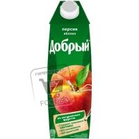 Нектар персик-яблоко, Добрый, 1л (тетра-пак)