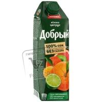 Сок яблоко-апельсин-мандарин, Добрый, 1л (тетра-пак)