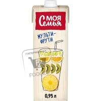 Напиток сокосодержащий мульти-фрути, Моя семья, 950мл (тетра-пак)