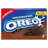 Печенье с какао и шоколадной начинкой, Oreo, 228г (картонная коробка)