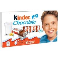 Шоколад молочный с молочной начинкой, Kinder, 100г (флоу-пак)