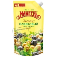Майонез оливковый 67%, Махеевъ, 400г (дой-пак)