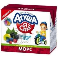 Морс ягодный сбор для детского питания, Агуша, 200мл (ТВА)