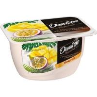 Продукт творожный с тропическим манго и маракуйя 6%, Даниссимо, 130г (стакан)