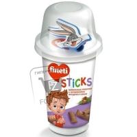 Вафельные трубочки с начинкой из фундука и какао, Fineti Sticks, 45г (пластиковый стакан)