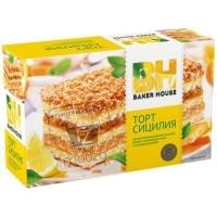 Торт бисквитный сицилия, Baker House, 350г (картонная упаковка)
