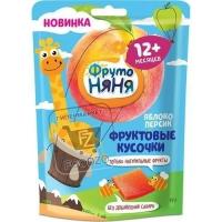 Фруктовые кусочки из яблок и персиков, Фрутоняня, 53г (флоу-пак)