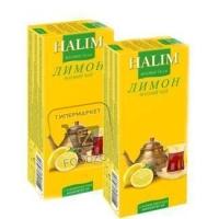 Чай черный с ароматом лимона в пакетиках, Halim, 25пакетиков (картонная коробка)