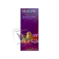 Чай черный ягодное ассорти в пакетиках, Halim, 25пакетиков (картонная коробка)
