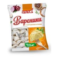 Вареники любительские с картофелем и луком, Мяско, 400г (флоу-пак)
