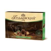 Конфеты целый фундук и ореховый крем в темном шоколаде, Бабаевские, 200г (картонная коробка)