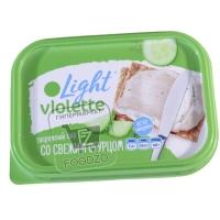 Сыр творожный со свежим огурцом 19,2%, Vlolette light, 160г (пластиковая упаковка)