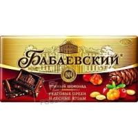 Шоколад темный кедровые орехи и лесные ягоды, Бабаевский, 100г (фольга)