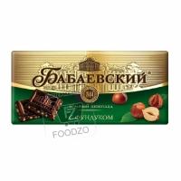 Шоколад темный с фундуком, Бабаевский, 200г (фольга)