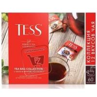 Набор чая 12 видов, Tess, 60пакетиков (картонная упаковка)