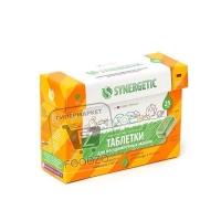 Таблетки безсульфатные для посудомоечных машин, Synergetic, 25шт (картонная коробка)