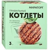Котлеты из свинины с шалфеем правильные, Мираторг, 300г (картонная упаковка)