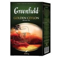 Чай черный голден цейлон, Greenfield, 200г (картонная упаковка)