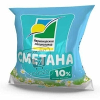Сметана 10%, Черноморский молокозавод, 400г (флоу-пак)