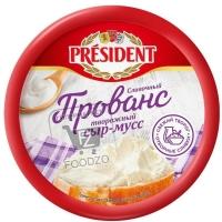 Сыр-мусс творожный сливочный, President, 120г (пластиковая упаковка)