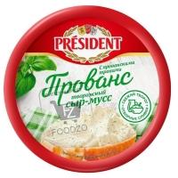 Сыр-мусс творожный с прованскими травами, President, 120г (пластиковая упаковка)