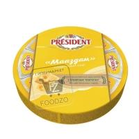 Сыр плавленый мааздам 45%, President, 140г (фольга)