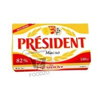 Масло сливочное высший сорт 82%, President, 180г (фольга)
