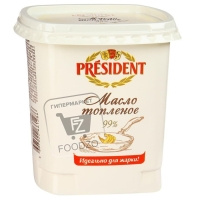 Масло топленое 99%, President, 380г (пластиковая упаковка)