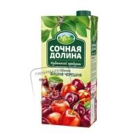 Напиток сокосодержащий яблоко-вишня-черешня, Сочная Долина, 0,95л (тетра-пак)