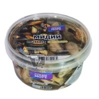 Мидии в масле, Лунское море, 280г (пластиковая упаковка)