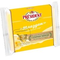 Сыр плавленый мааздам 40%, President, 150г (фольга)