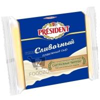 Сыр плавленый сливочный 40%, President, 150г (фольга)