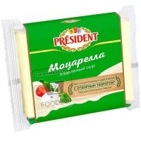 Сыр плавленый моцарелла 45%, President, 150г (флоу-пак)