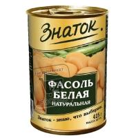 Фасоль белая консервированная натуральная, Знаток, 400г (ж/б с ключом)