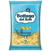 Макароны рожки, Bottega del Sole, 400г (флоу-пак)