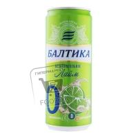 Пиво безалкогольное лайм №0, Балтика, 330мл (ж/б)