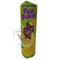 Печенье сахарное с банановым вкусом сэндвич, FunBanan, 220г (флоу-пак)