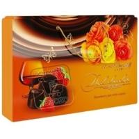 Конфеты ассорти клубника и коньяк в темном шоколаде, A&A.DEMIDOFF, 284г (коробка)