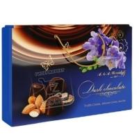 Конфеты ассорти трюфель-миндаль-мокко в темном шоколаде, A&A.DEMIDOFF, 284г (коробка)
