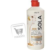 Гель-эко для мытья посуды ромашка и хлопок, Sola, 500мл (пластиковая бутылка)