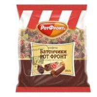 Конфеты шоколадно-сливочные батончики, РотФронт, 250г (флоу-пак)