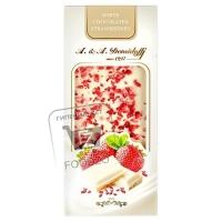 Шоколад белый с кусочками сушеной клубники, A.&A.DEMIDOFF, 100г (картонная упаковка)