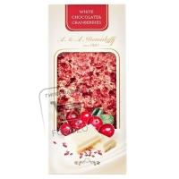 Шоколад белый с кусочками сушеной клюквы, A.&A.DEMIDOFF, 100г (картонная упаковка)