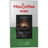 Кофе молотый pure arabica crema италия, MacCoffee, 250г (флоу-пак)