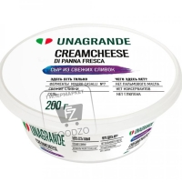 Сыр мягкий сливочный creamcheese 70%, Unagrande, 200г (стакан)