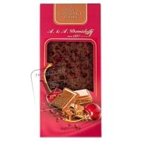 Шоколад молочный с кусочками сушеной вишни, A.&A.DEMIDOFF, 90г (картонная упаковка)